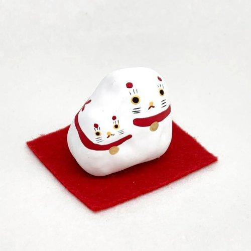 その他の写真1: [張子]矢嶋美夏/くっつき猫 (敷布付き)