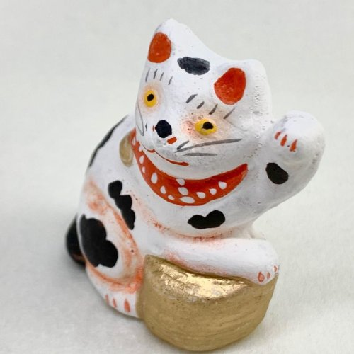 その他の写真2: [土人形]古型今戸人形/丸〆小判猫