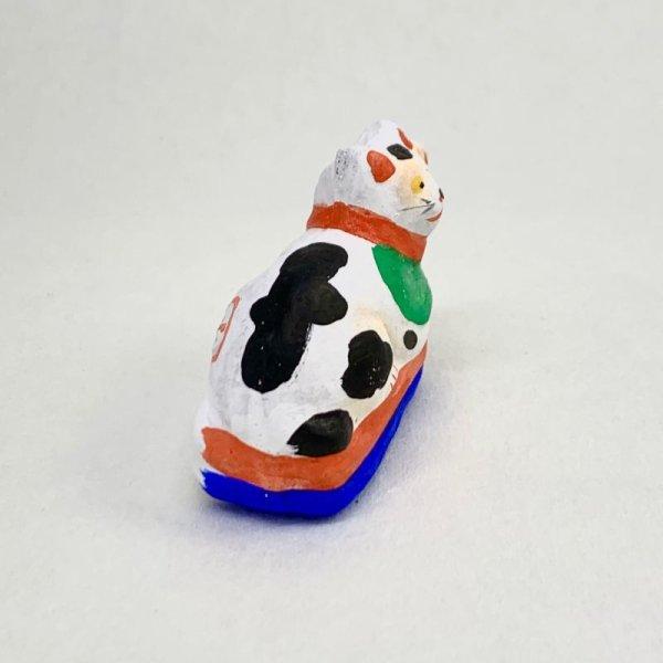 画像4: [土人形]古型今戸人形/丸〆猫(小・臥姿)