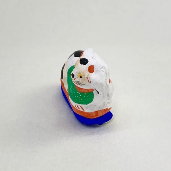 画像2: [土人形]古型今戸人形/丸〆猫(小・臥姿)