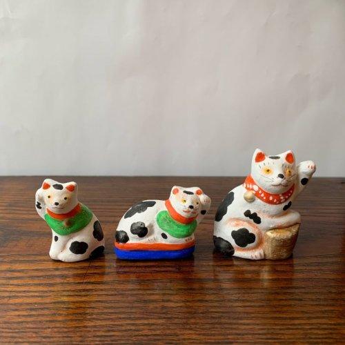その他の写真1: [土人形]古型今戸人形/丸〆小判猫