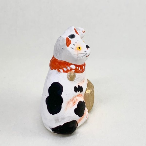 画像4: [土人形]古型今戸人形/丸〆小判猫