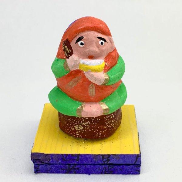 画像1: [土人形]古型今戸人形/飯喰いだるまのぴいぴい