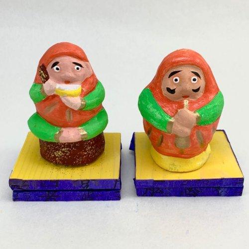 その他の写真2: [土人形]古型今戸人形/ラッパ吹きだるまのぴいぴい