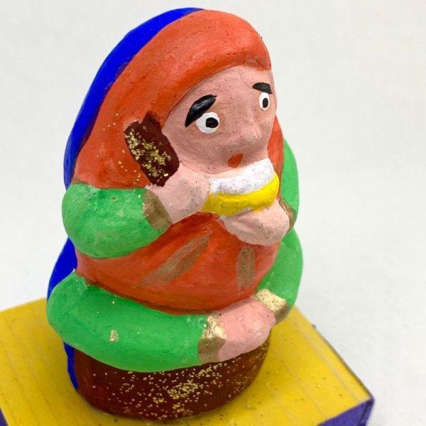 画像5: [土人形]古型今戸人形/飯喰いだるまのぴいぴい