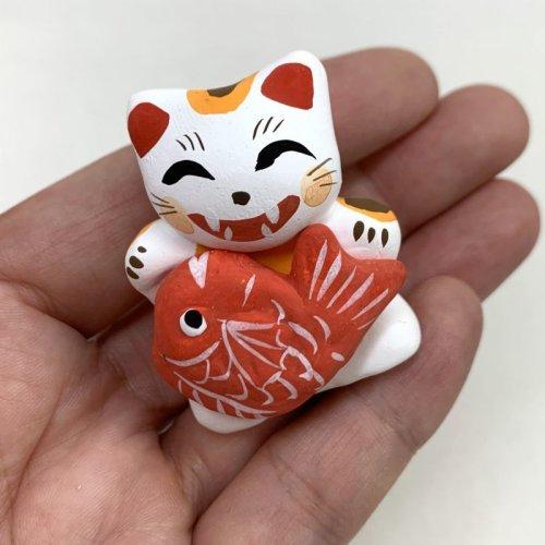 その他の写真1: [土人形]門司ヶ関人形/鯛抱き招き猫
