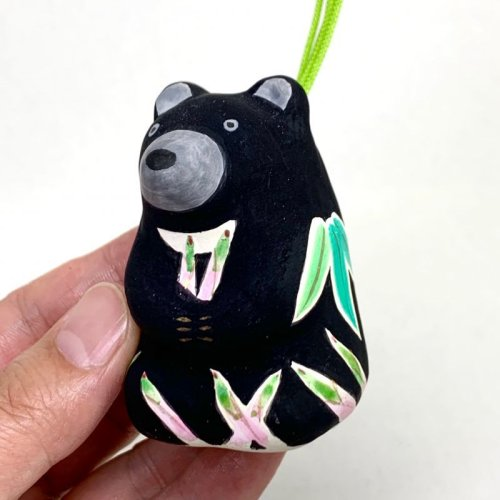 その他の写真1: [土鈴] ももさだ土人形/タケノコ熊