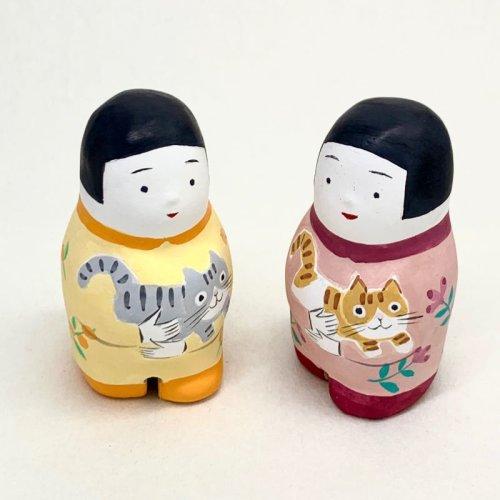 その他の写真3: [土鈴] ももさだ土人形/猫抱き