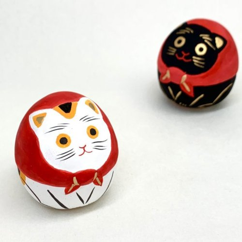 その他の写真1: [土鈴] ももさだ土人形/スカーフ猫