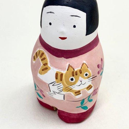 その他の写真1: [土鈴] ももさだ土人形/猫抱き