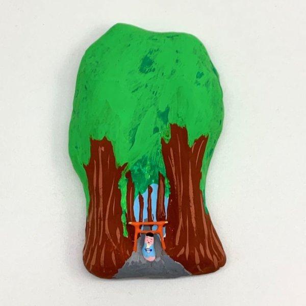 画像1: [張子]松崎大祐/壁掛け・杉並木の参道