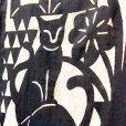 画像3: [型染] よつめ染布舎/手ぬぐい・窓辺の猫(濃紺) (3)