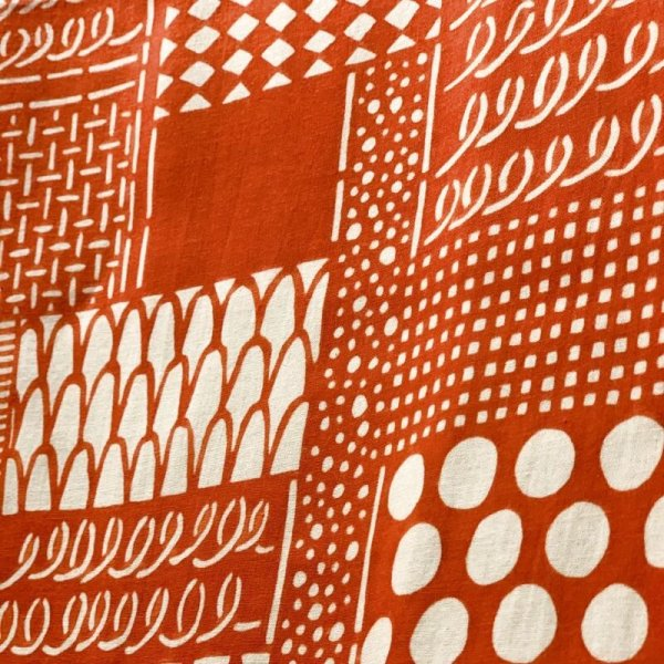 画像3: [型染] よつめ染布舎/手ぬぐい・花布(赤)