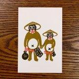 [紙製品] よつめ染布舎/ポストカード・タヌキ踊り