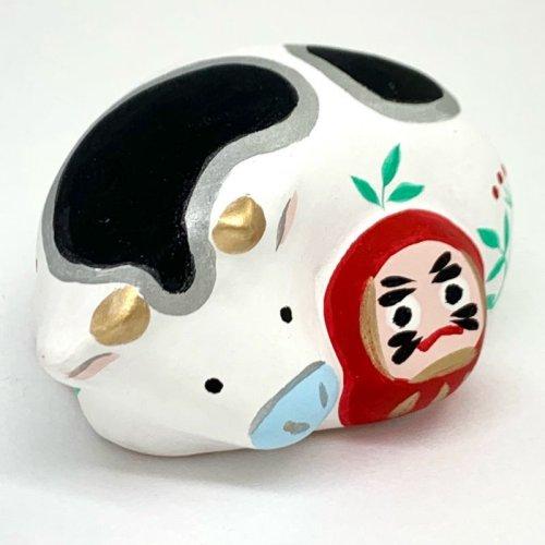 その他の写真2: [土鈴] ももさだ土人形/干支・ダルマ抱き丑