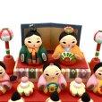 画像2: [土人形]門司ヶ関人形/五人囃子組物 (2)