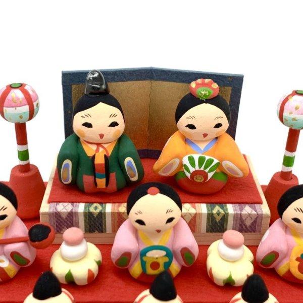 画像2: [土人形]門司ヶ関人形/五人囃子組物