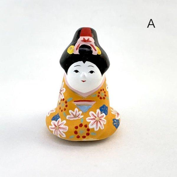 画像1: [土鈴] ももさだ土人形/座り舞妓