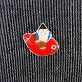 [プラ板] 尾崎人形ピンバッジ/鯛えびす